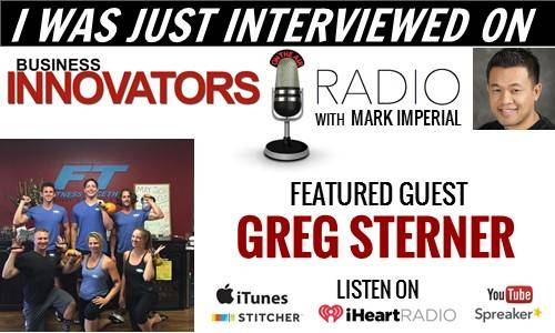 IHeart Radio interview with Fitness Professional Greg Sterner