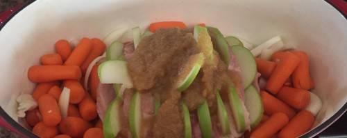 Apple Stuffed Pork Roast
