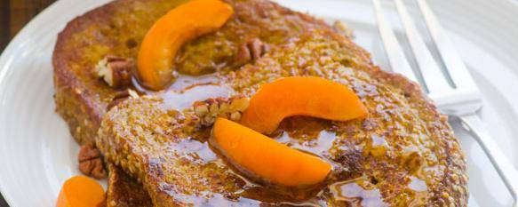 Healthy Pumpkin Pie French Toast
